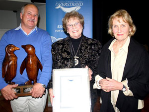 Wilfred Chivell (Man of the year), Mayor N Botha-Guthrie, Angela Heslop (Woman of the year)